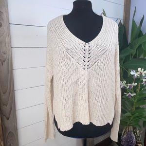 Eileen Fisher NWT Organic Cotton/Linen V Neck